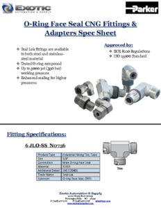 Exotic Fittings Spec Sheet