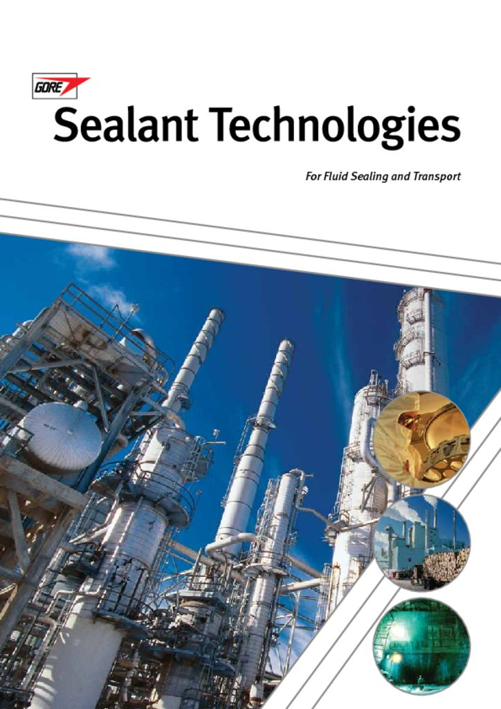 Gore Sealant Technologies Catalog