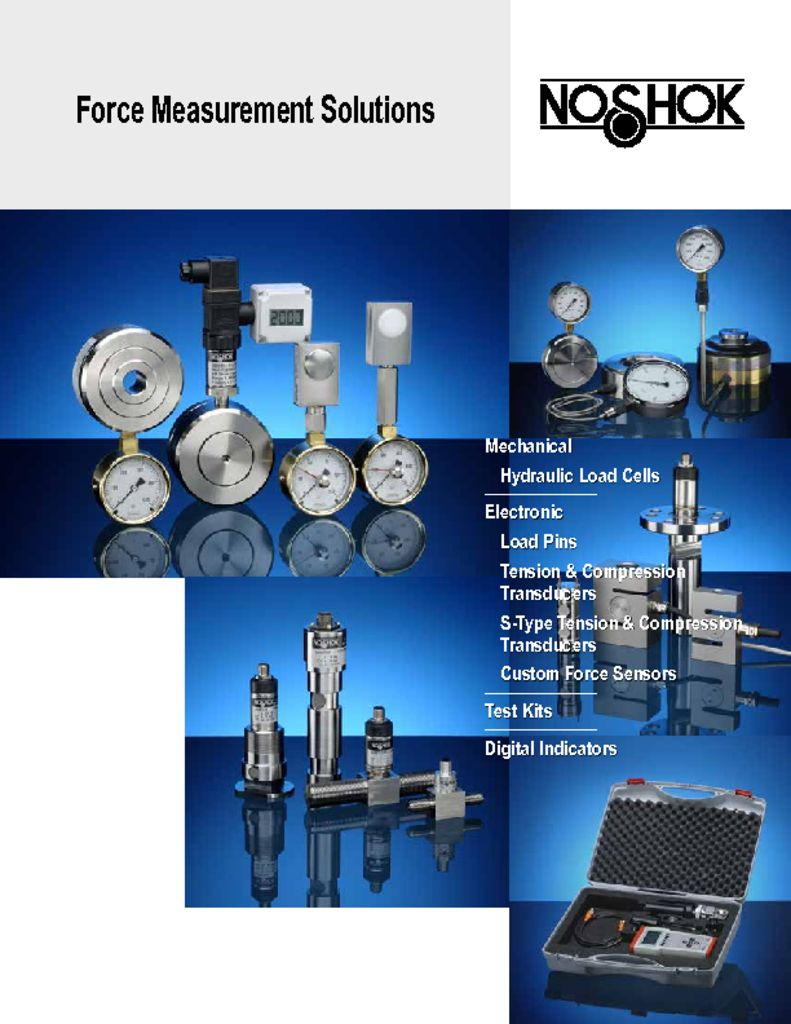 NOSHOK Force Measurement Solutions