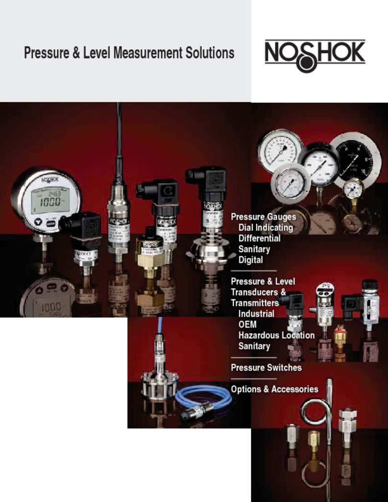 NOSHOK Pressure and Level Measurement Solutions