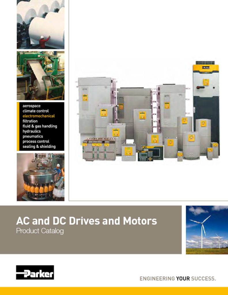 Parker AC and DC Drives and Motors Catalog