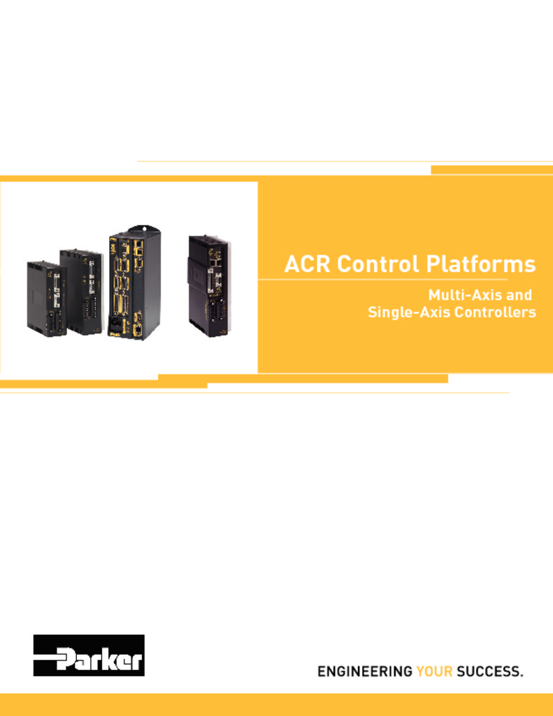 Parker ACR Control Platforms Multi and Single Controllers