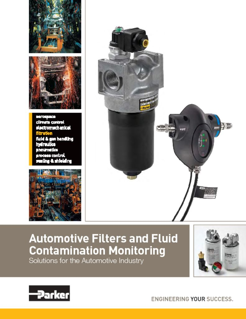Parker Automotive Filters and Fluid Contamination Monitoring
