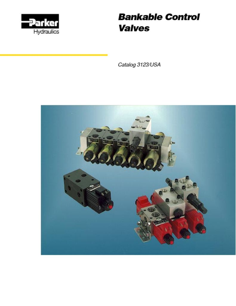 Parker Bankable Control Valves – Catalog 3123
