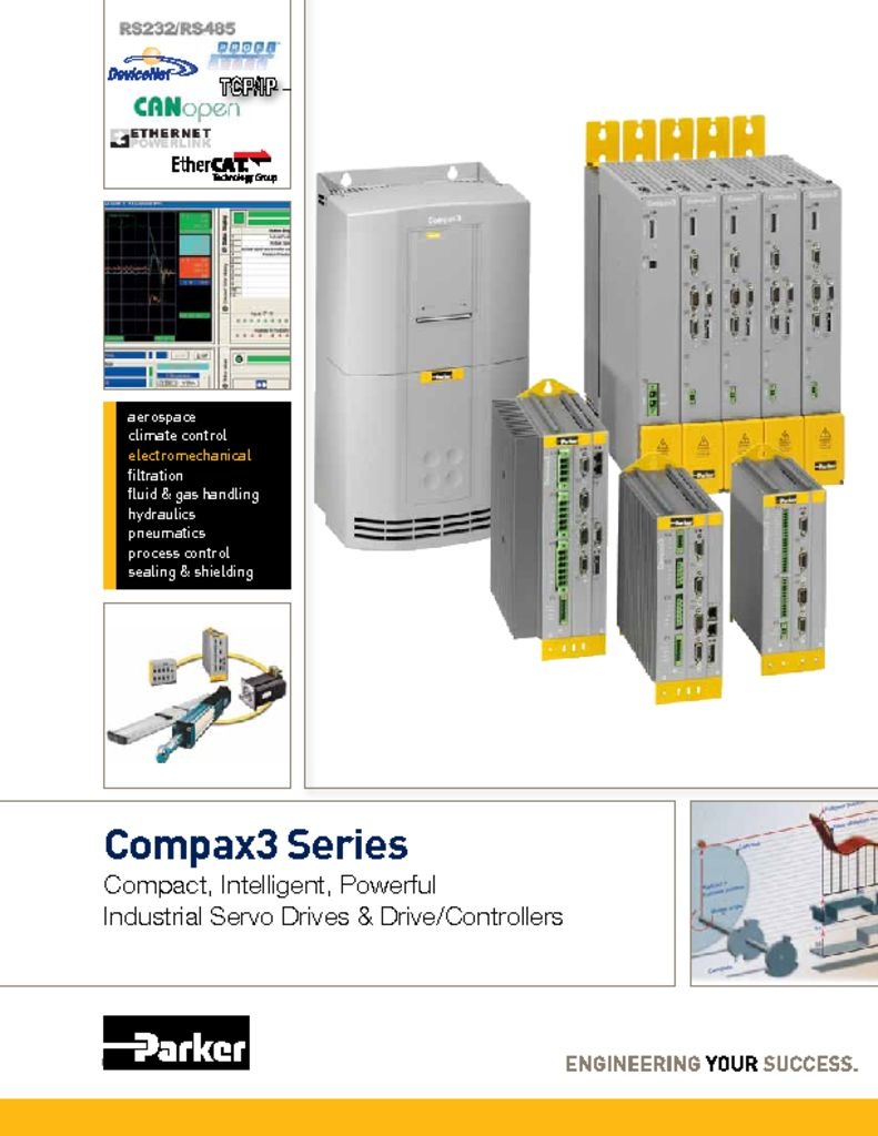 Parker Compax3 Brochure Servo Drives and Drive Controllers