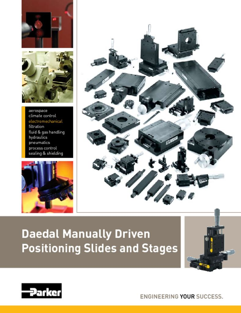 Parker Daedel Manually Driven Positioning Slides and Stages