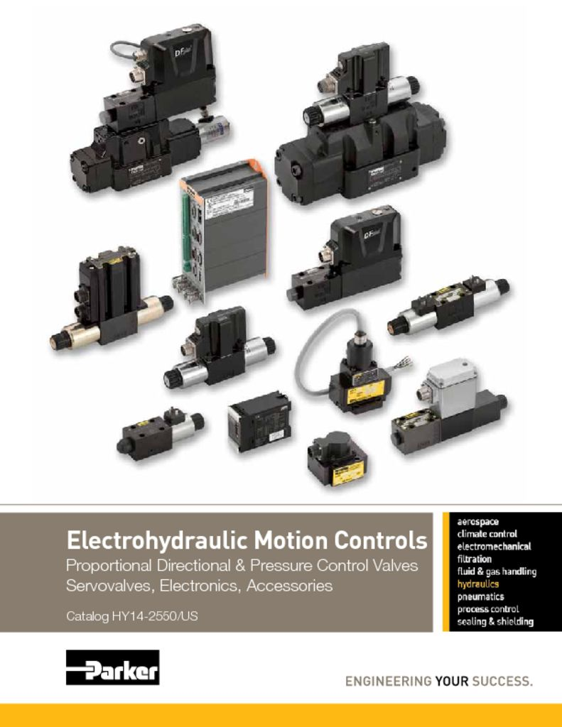Parker Electrohydraulic Motion Controls – HY14-2550