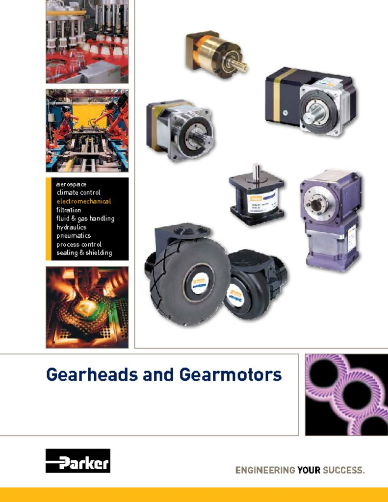 Parker Gearhead and Gearmotors Catalog