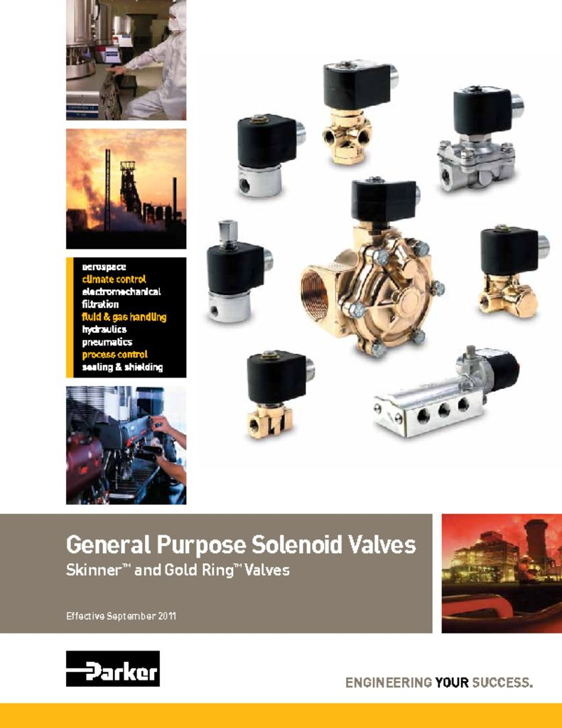 Parker General Purpose Solenoid Valves Skinner and Gold Ring Valves September 2011