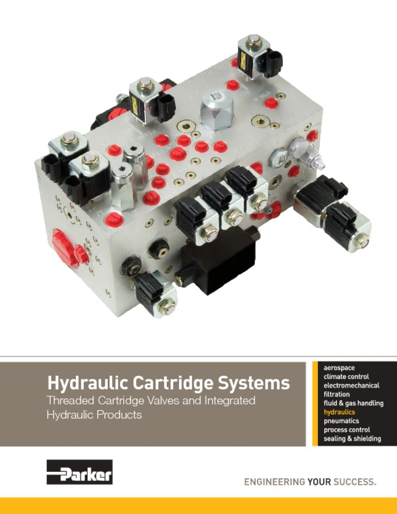 Parker Hydraulic Cartridge Systems – HY15-3502