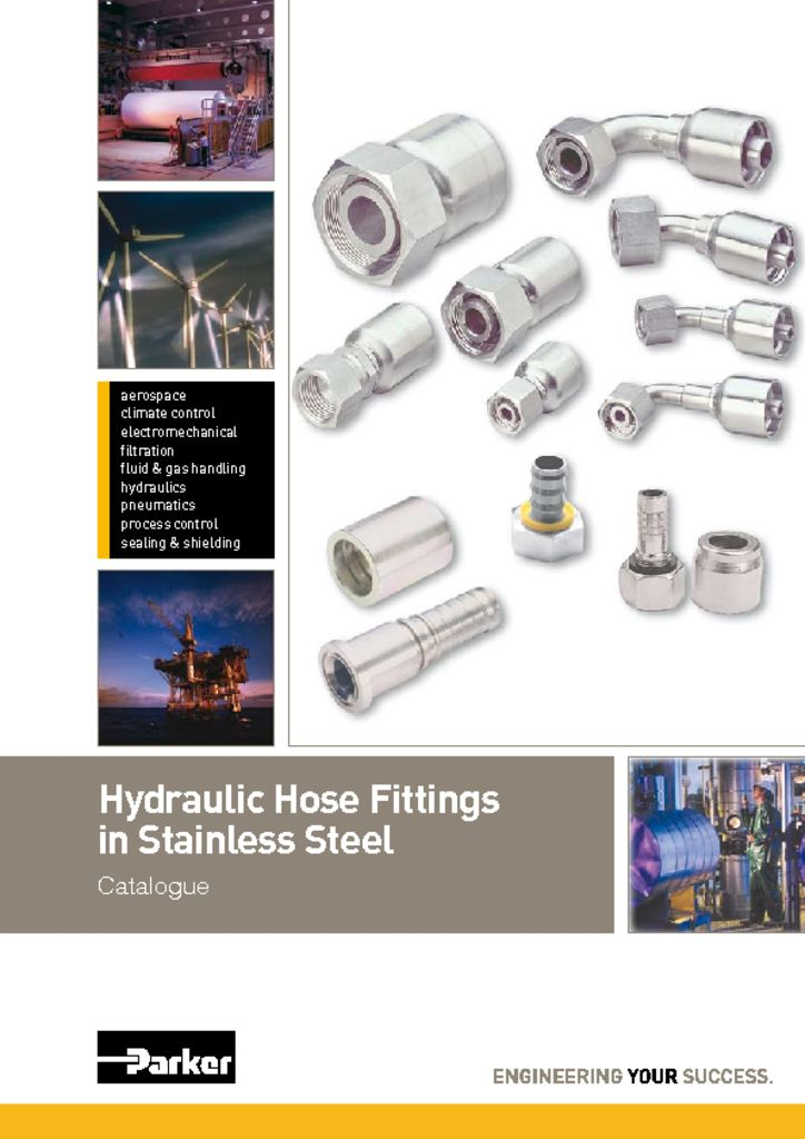 Parker Hydraulic Hose Fittings in Stainless Steel – 4400.1_UK