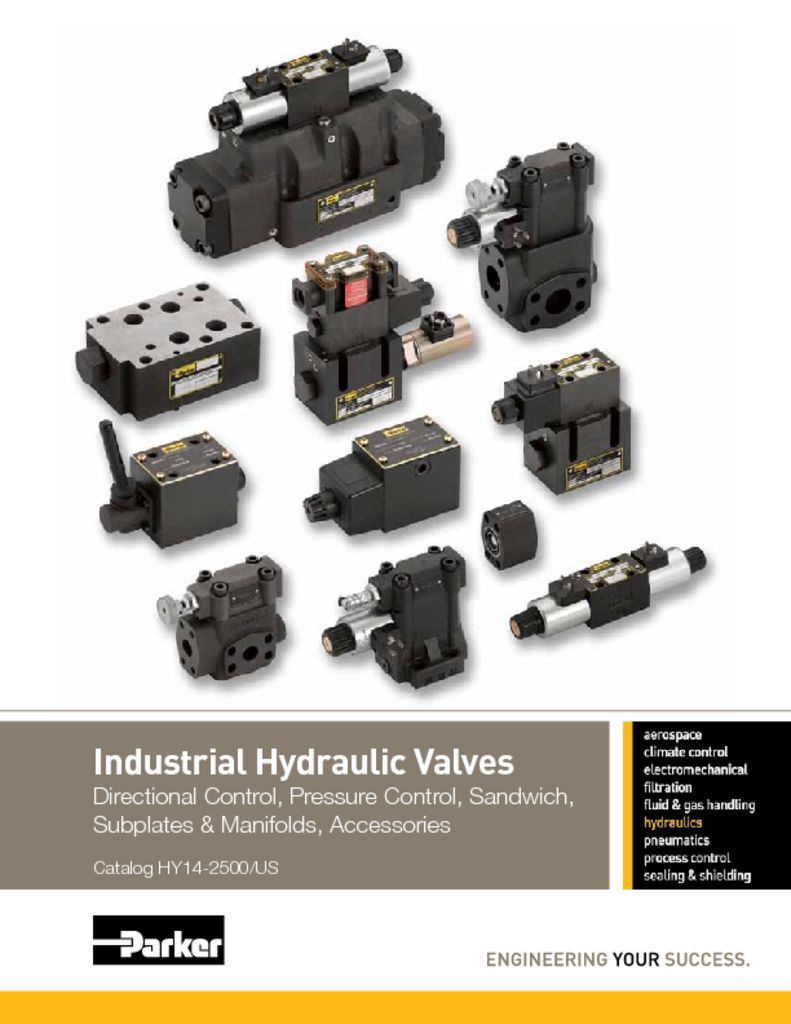 Parker Industrial Hydraulic Valves – Catalog HY14-2500 US