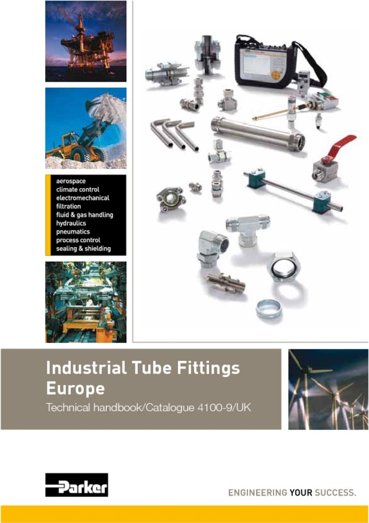 Parker Industrial Tube Fittings Europe Catalog 4100-9UK