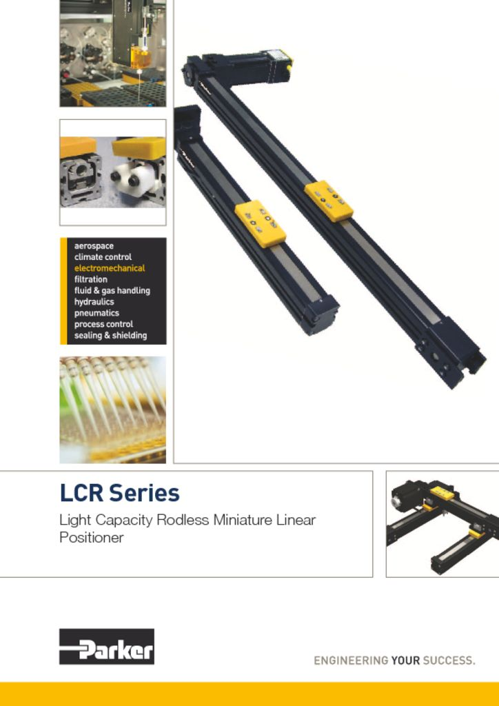 Parker LCR Series Light Capacity Rodless Miniature Linear Positioner