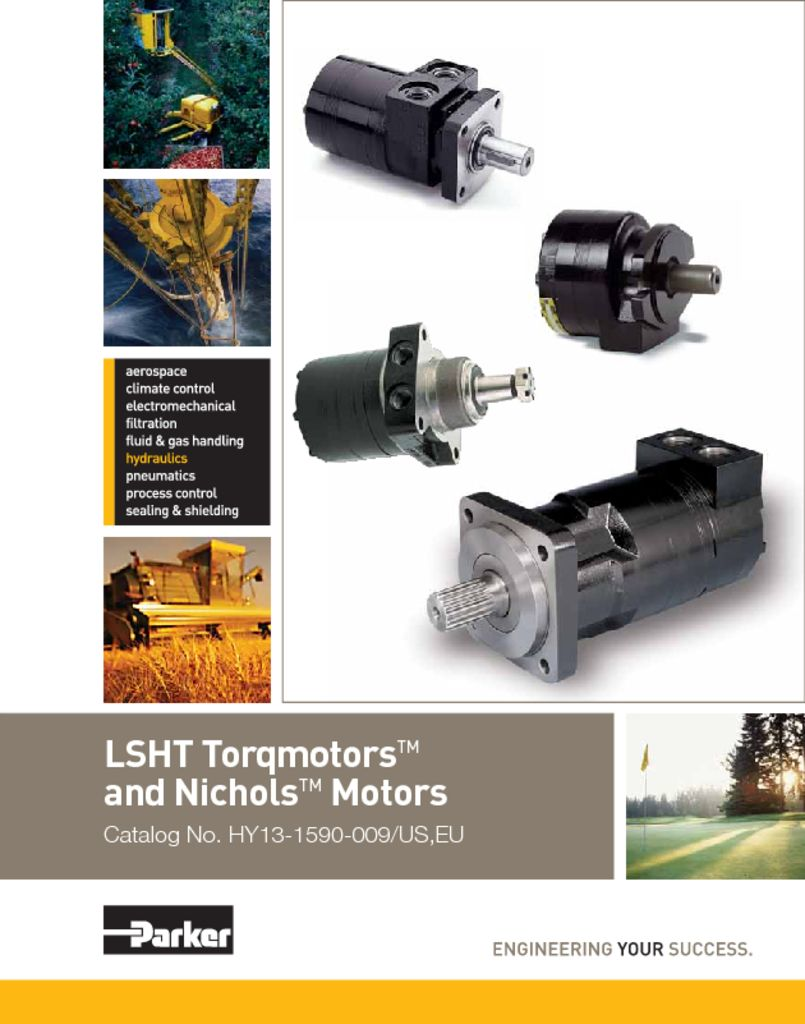 Parker LSHT Torqmotors and Nichols Motors Catalog No. HY13-1590-009 US EU