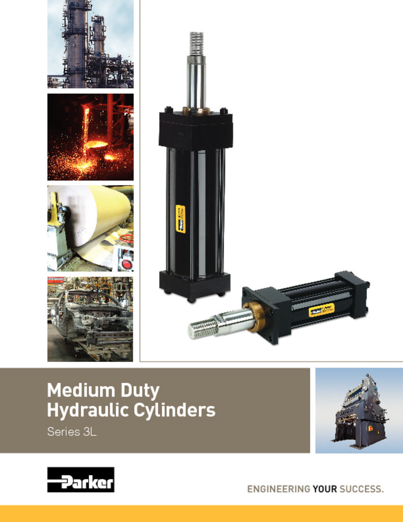 Parker Medium Duty Hydraulic Cylinders Series 3L