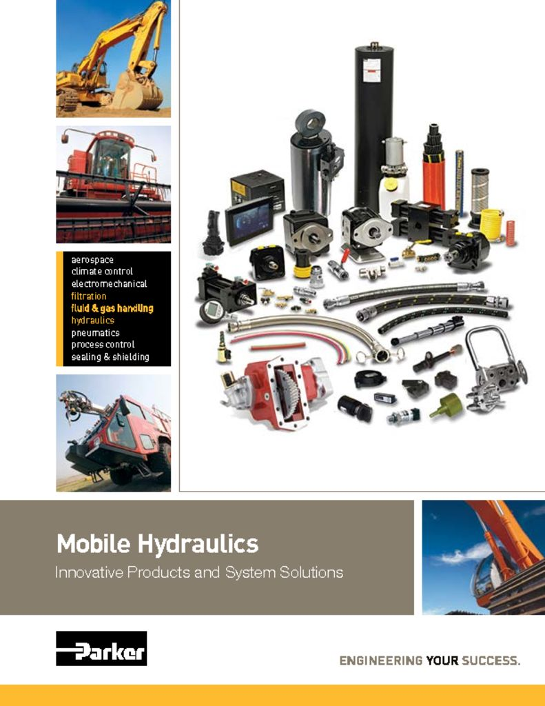 Parker Mobil Hydraulics Innovative Products and System Solutions