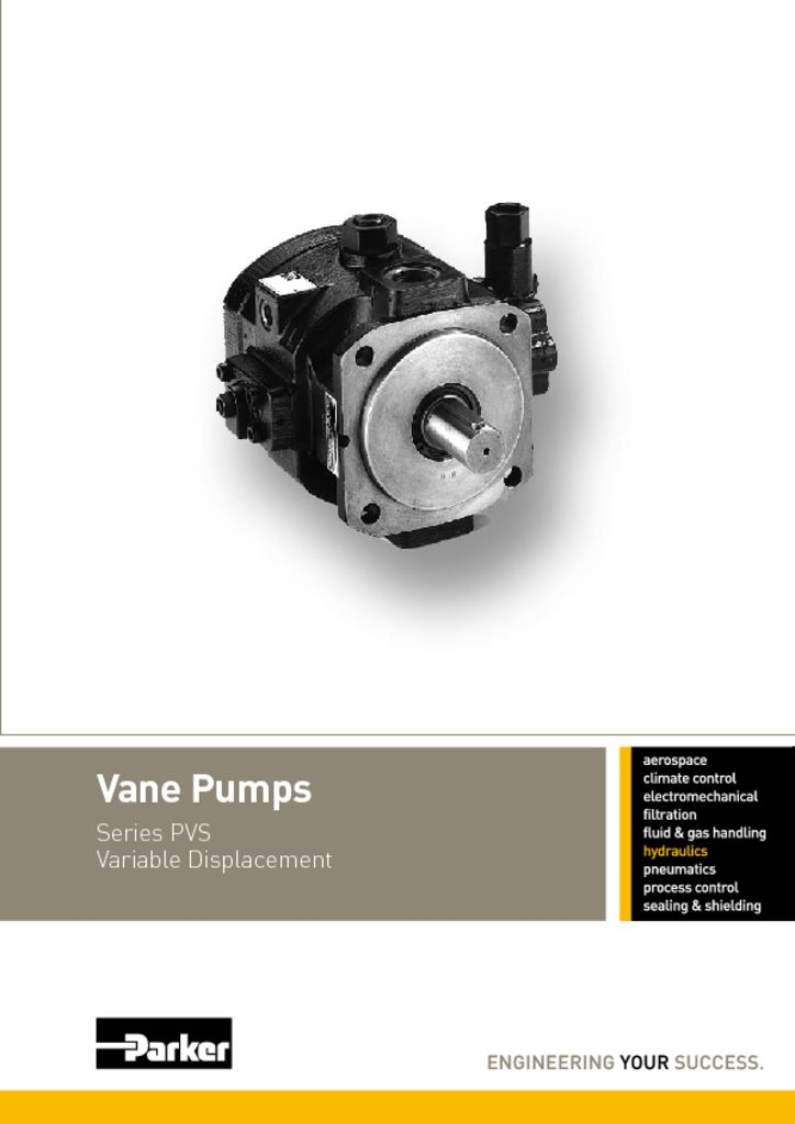 Parker PVS Vane Pumps – HY30-3230UK
