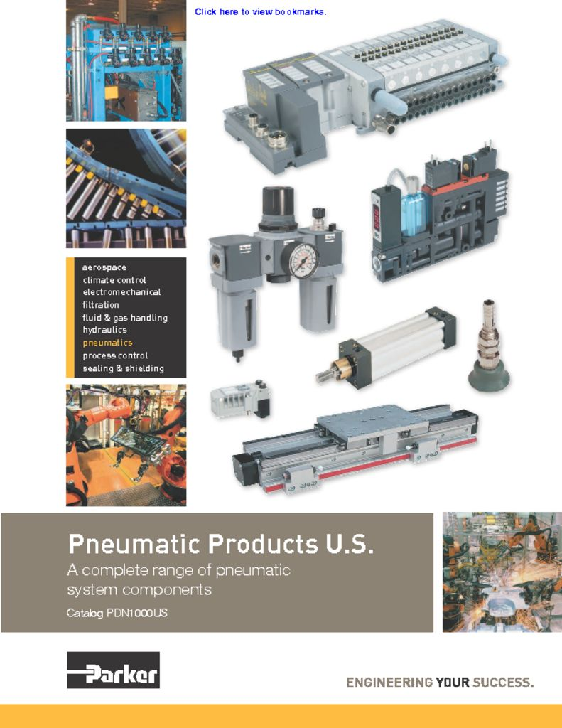Parker Pneumatic Products US – Catalog PDN1000US
