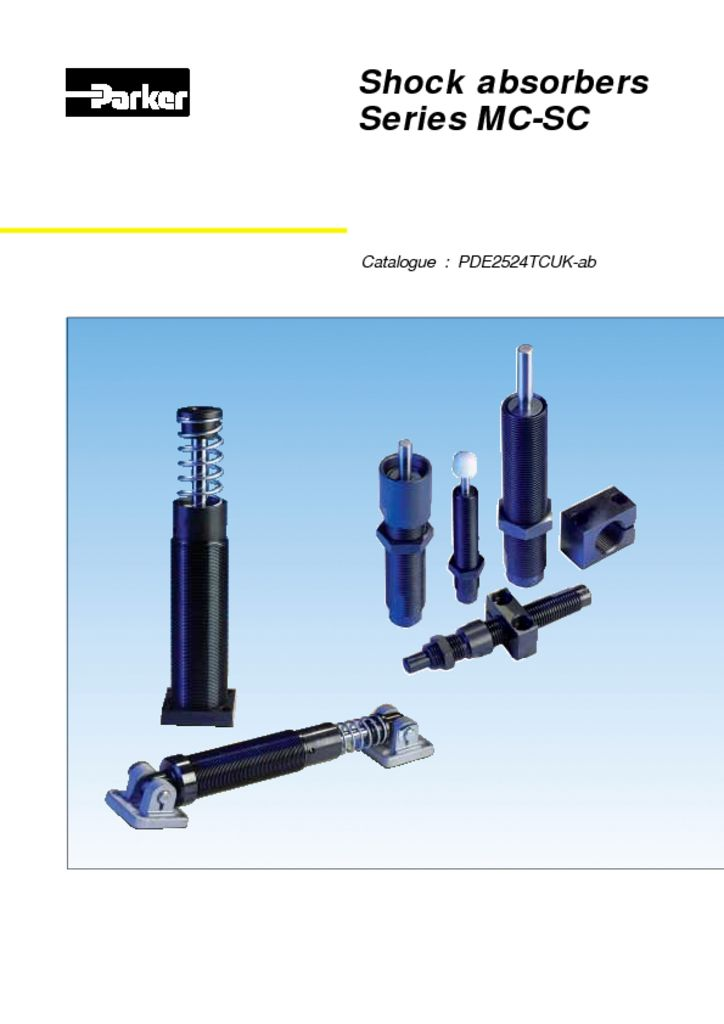 Parker Shock Absorbers Series MC-SC – Catalog PDE2524TCUK-ab