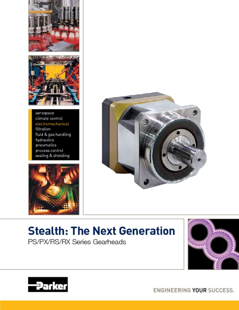 Parker Stealth The Next Generation PS PS RS RX Gearheads
