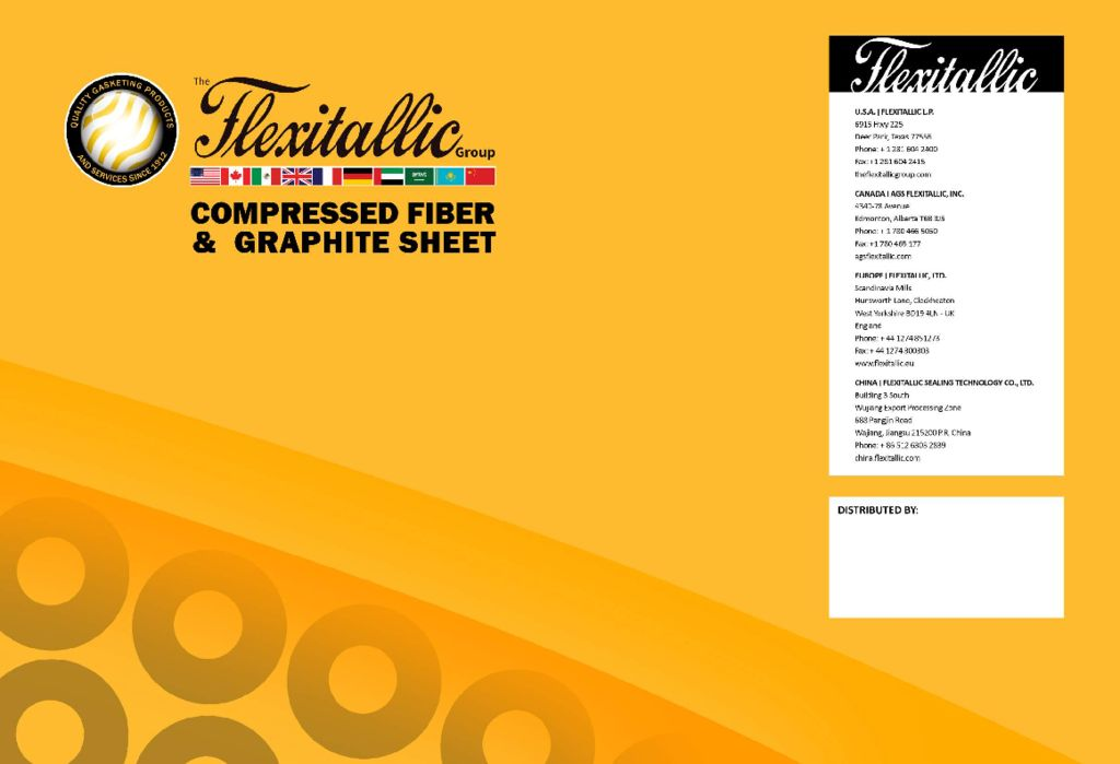 Flexitallic Compressed Fiber and Graphite Sheet