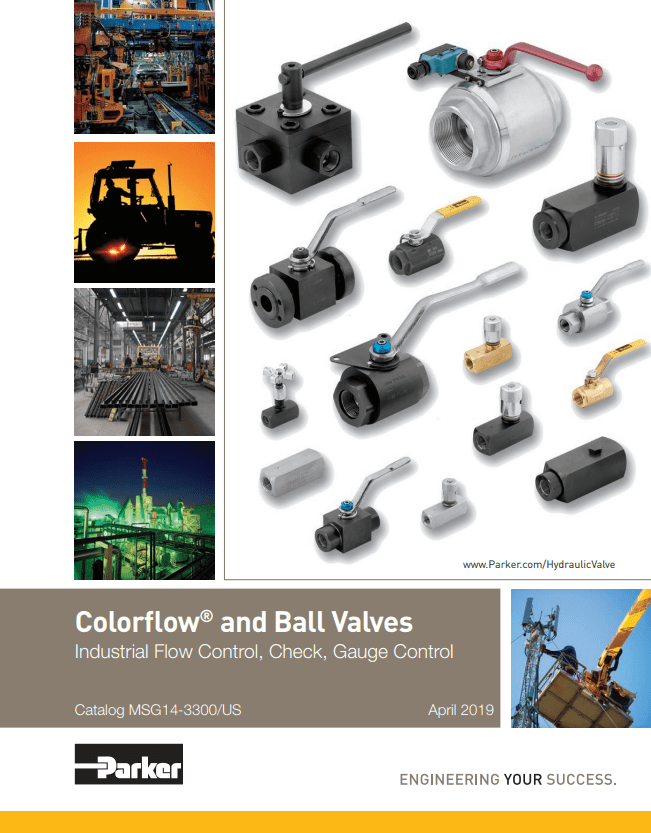 Parker Colorflow and Ball Valves – Industrial Flow Control, Check, Gauge Control – Catalog MSG14-3300 US