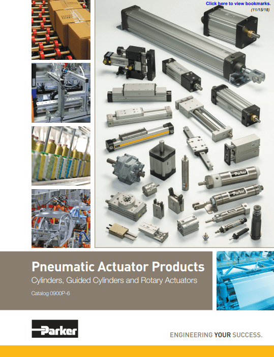 Parker Pneumatic Actuator Products – Catalog 0900P-6