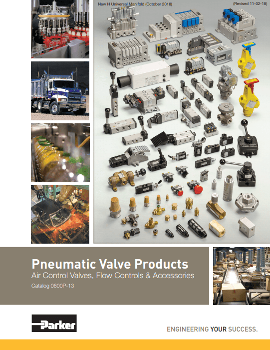 Parker Pneumatic Products Air Control Valves and Accessories – Catalog 0600P-E