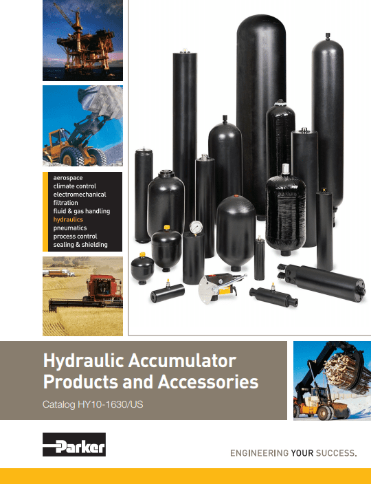 Parker Hydraulic Accumulator Products HY10-1630