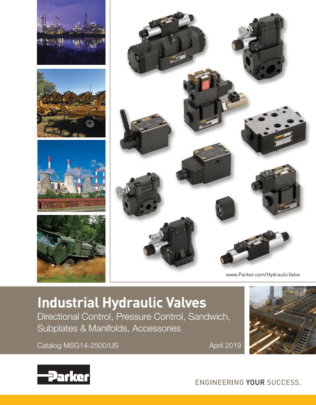 Parker Industrial Hydraulic Valves – Catalog MSG14-2500
