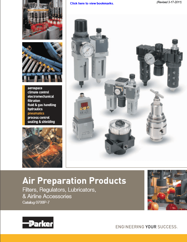 Parker Air Preparation Products – Filters, Regulators, Lubricators, and Airline Accessories, Catalog 0700P-7