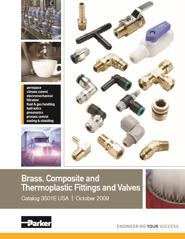 Parker Brass, Composite, and Thermoplastic Fittings and Valves Catalog 3501E Oct 2009