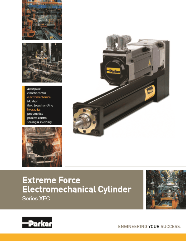 Parker Extreme Force Electromechanical Cylinder XFC Series