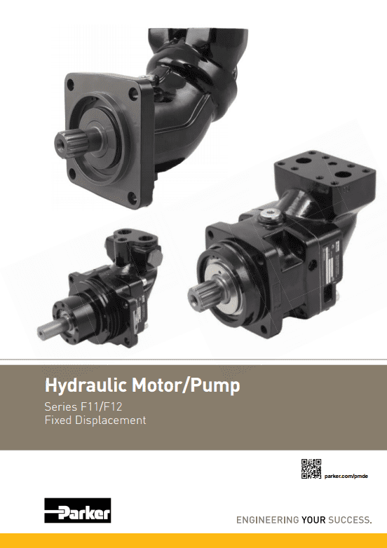 Parker Hydraulic Motor Pump Series F11 F12 – Catalog HY30-8429 UK