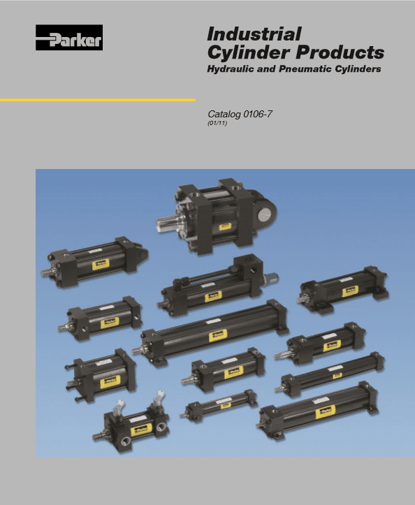 Parker Industrial Cylinder Products – Hydraulic and Pneumatic Cylinders – Catalog 0106-7