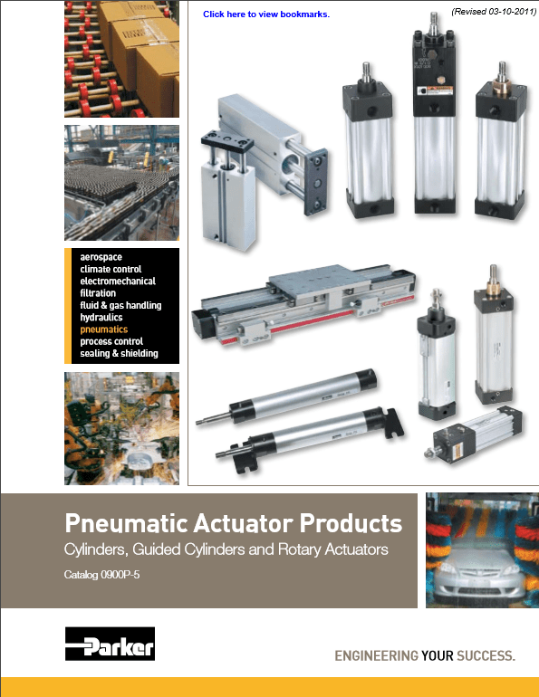 Parker Pneumatic Actuator Products – Catalog 0900P-5