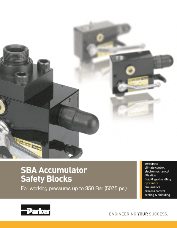 Parker SBA Accumulator Safety Blocks HY10-1241 US