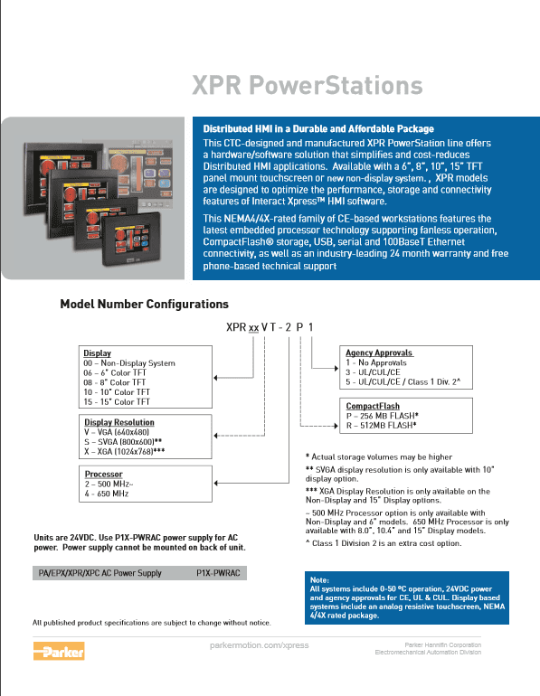 Parker XPR Power Station