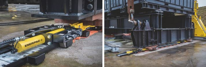 New Enerpac Low-Height Skidding System