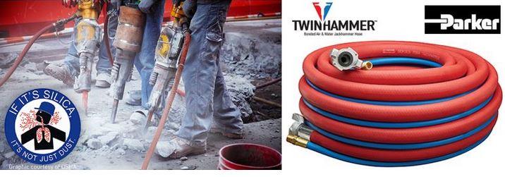 Twinhammer Bonded Air/Water Jackhammer Hose System