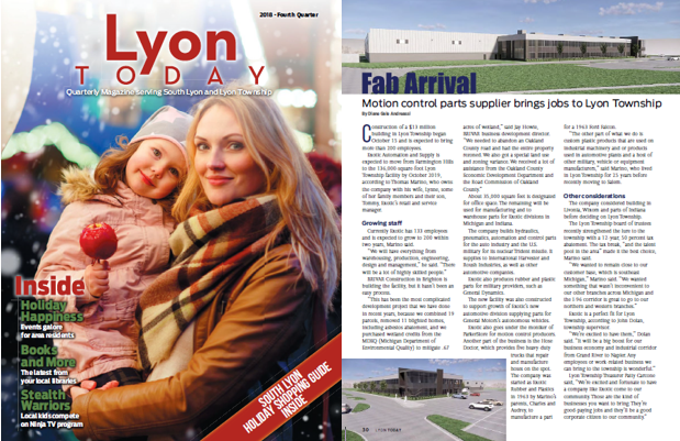Featured in Lyon Today Magazine