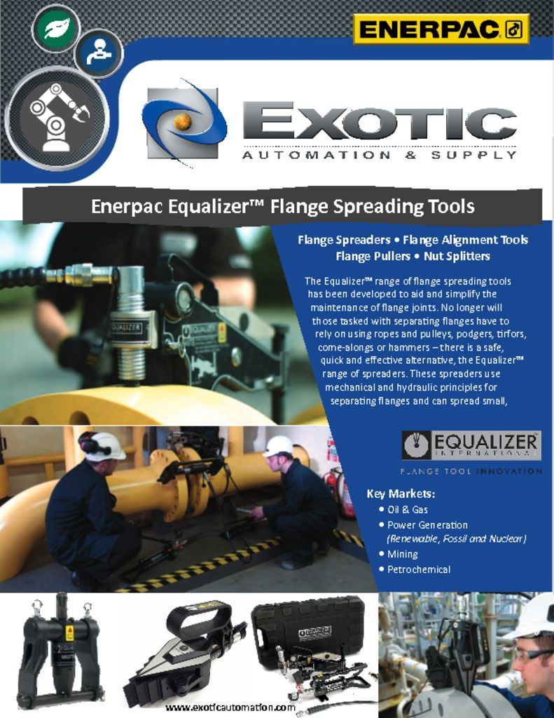 Enerpac Equalizer Flanging Tools