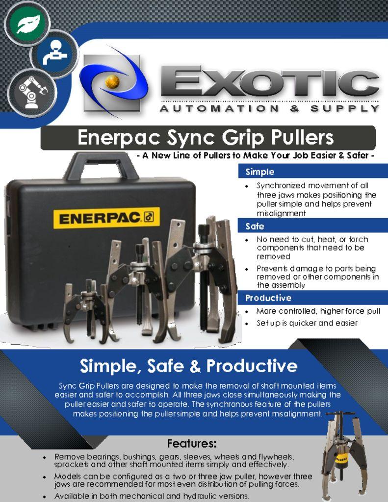 Enerpac Sync Grip Puller