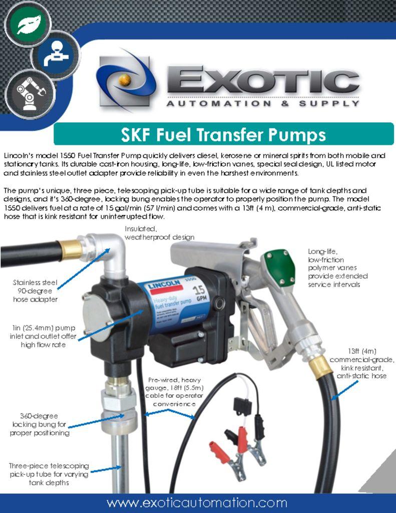 SKF Fuel Transfer Pumps