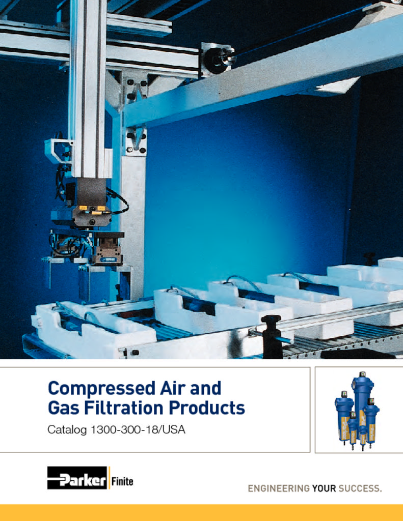 Parker Compressed Air & Gas Filtration Products 1300-300-18