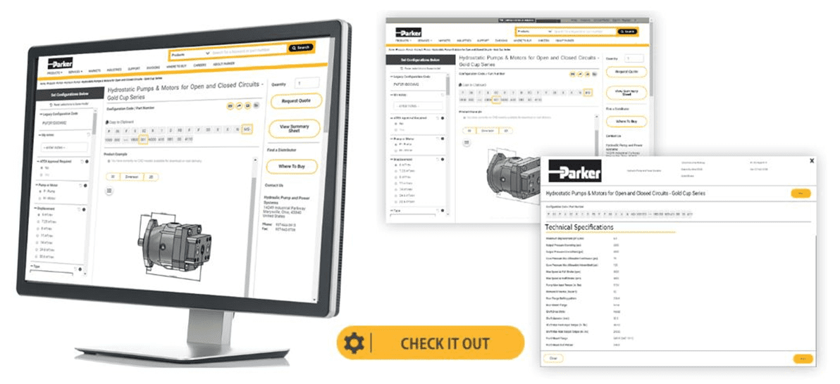 Parker's New eConfigurator for Hydraulic Pumps