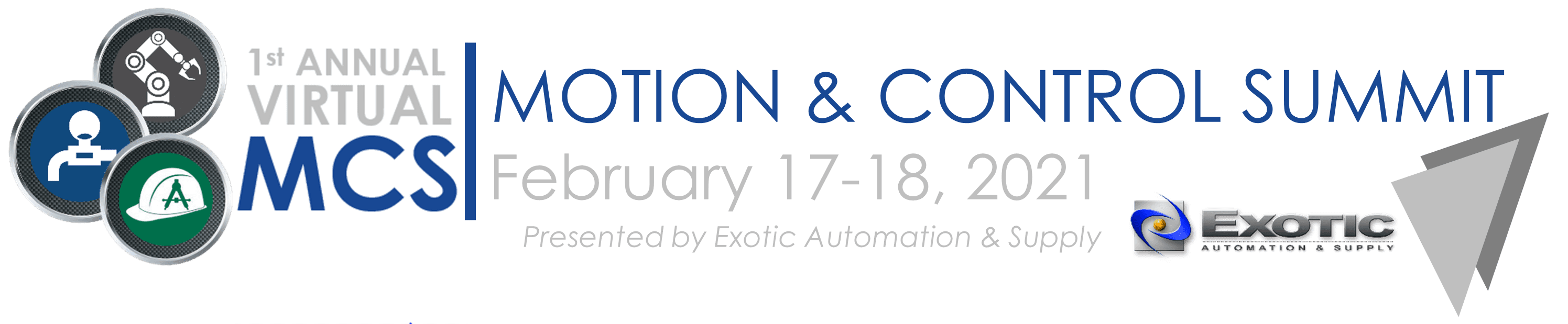 Exotic Automation & Supply 1st Annual Virtual Motion & Control Summit