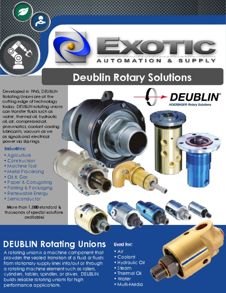 Deublin Overview