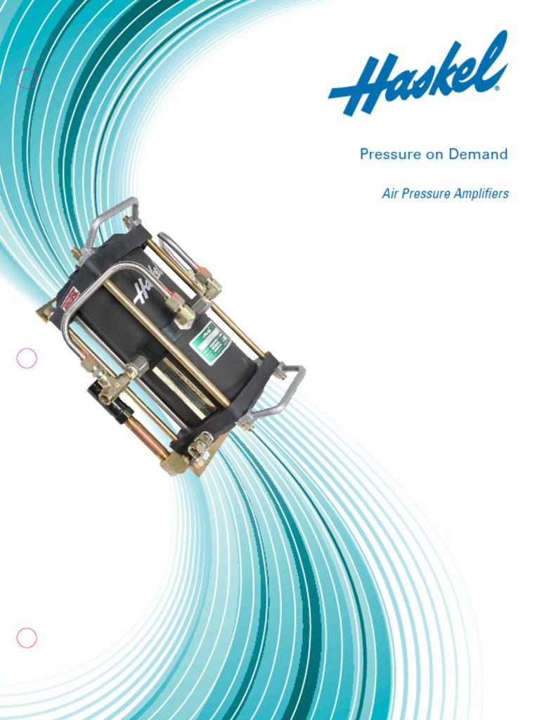 Haskel Air Pressure Amplifiers